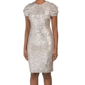 Brand new Adrianna Papell Silver Sequin dress